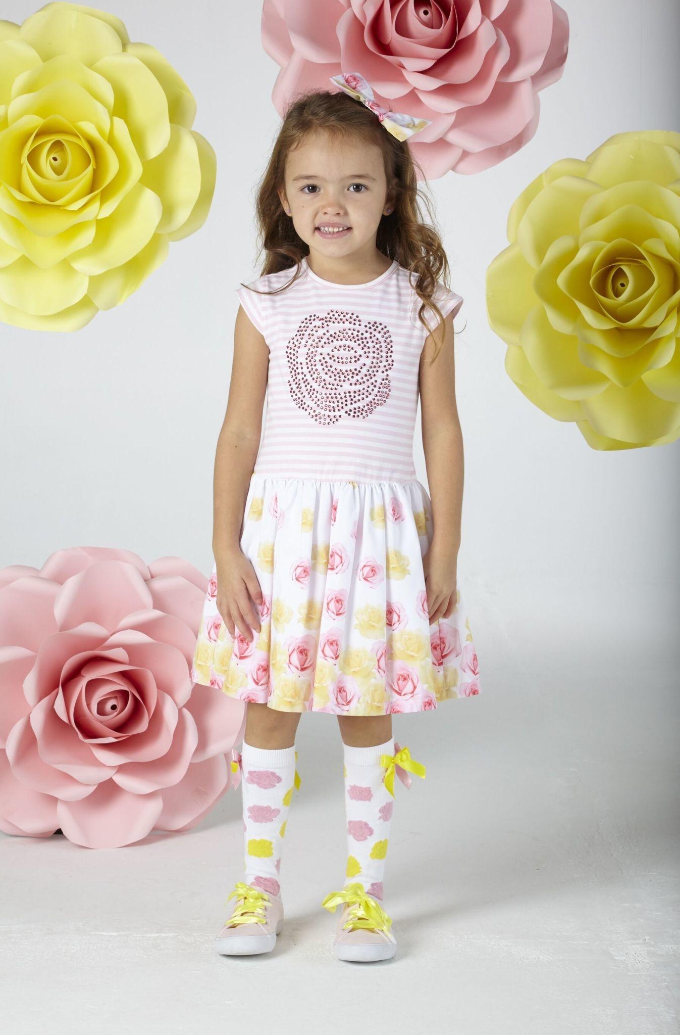A Dee ADee Brooke Rose Print Dress