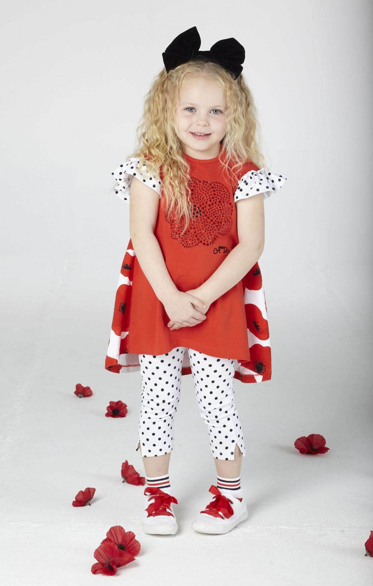 A Dee ADee Agatha Poppy Spot Legging Set