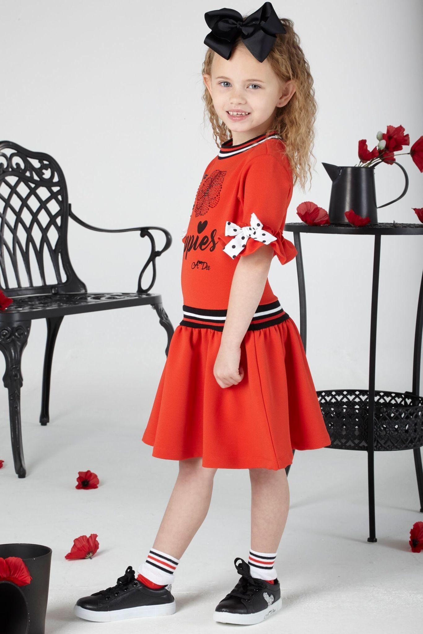 A Dee ADee Arianna Red Poppy Fleece Dress