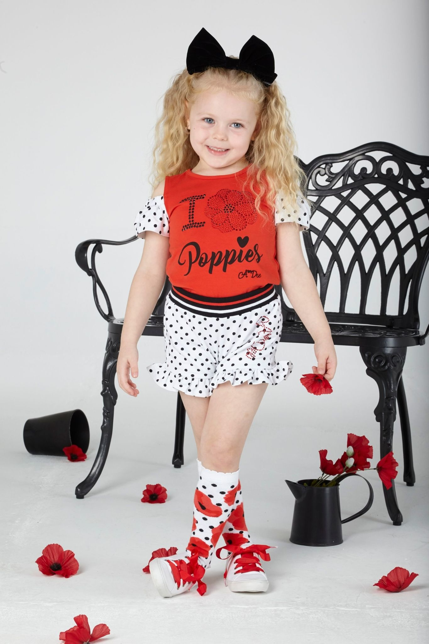 A Dee ADee Alice Poppy Short Set