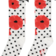 A Dee ADee Allyson Poppy One High Sock