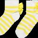 A Dee ADee Bea Lemon Stripe Ankle Sock