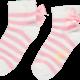 A Dee ADee Bea Pink Stripe Ankle Sock