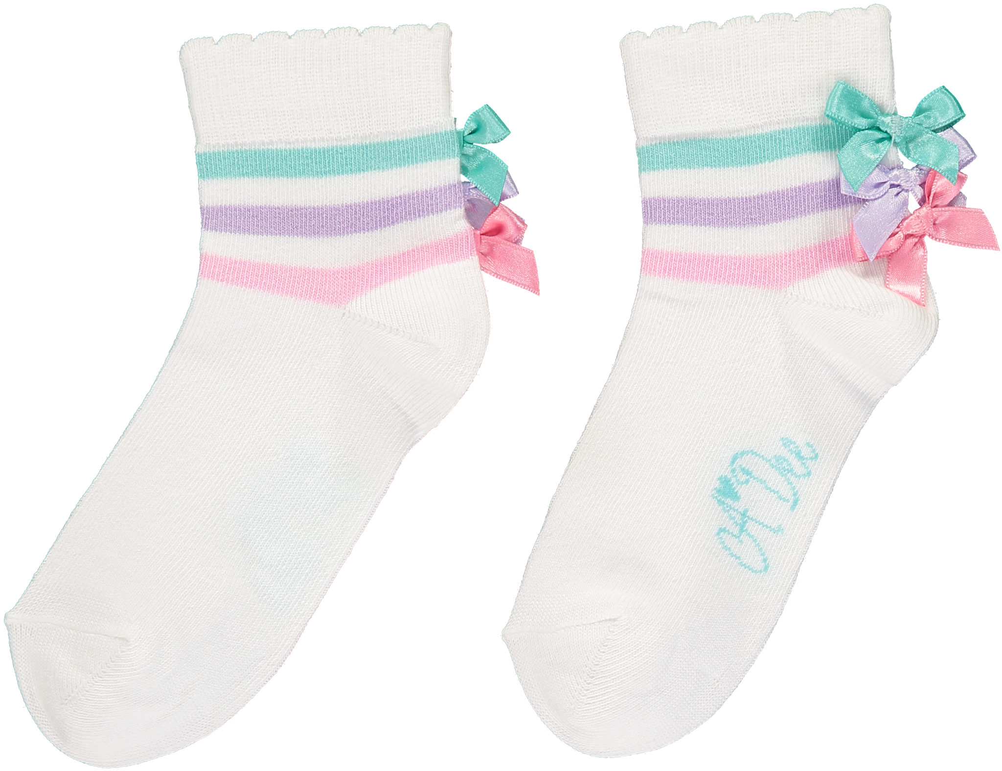 A Dee ADee Clarissa Bow Ankle Sock