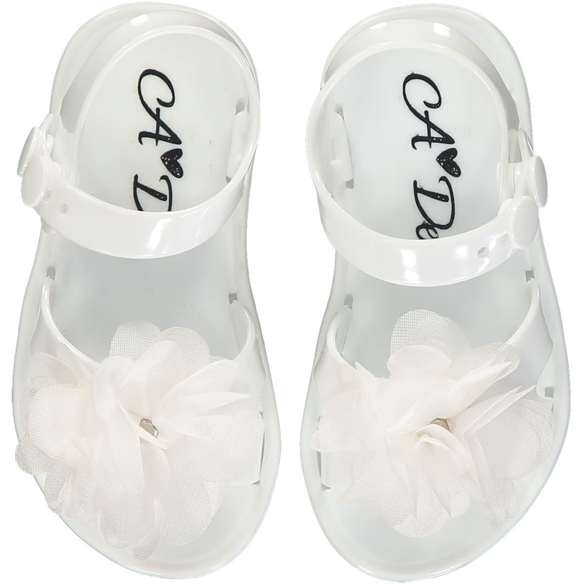 A Dee ADee Suzy Summer Jelly Shoe White