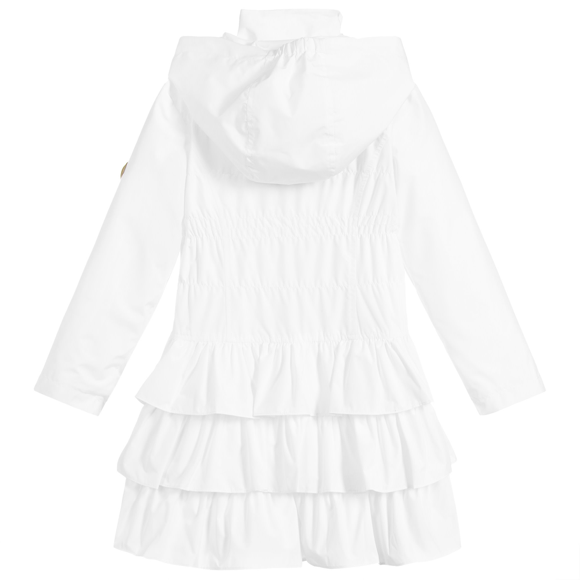 Lechic LeChic White Ruffle Plain Coat 5211