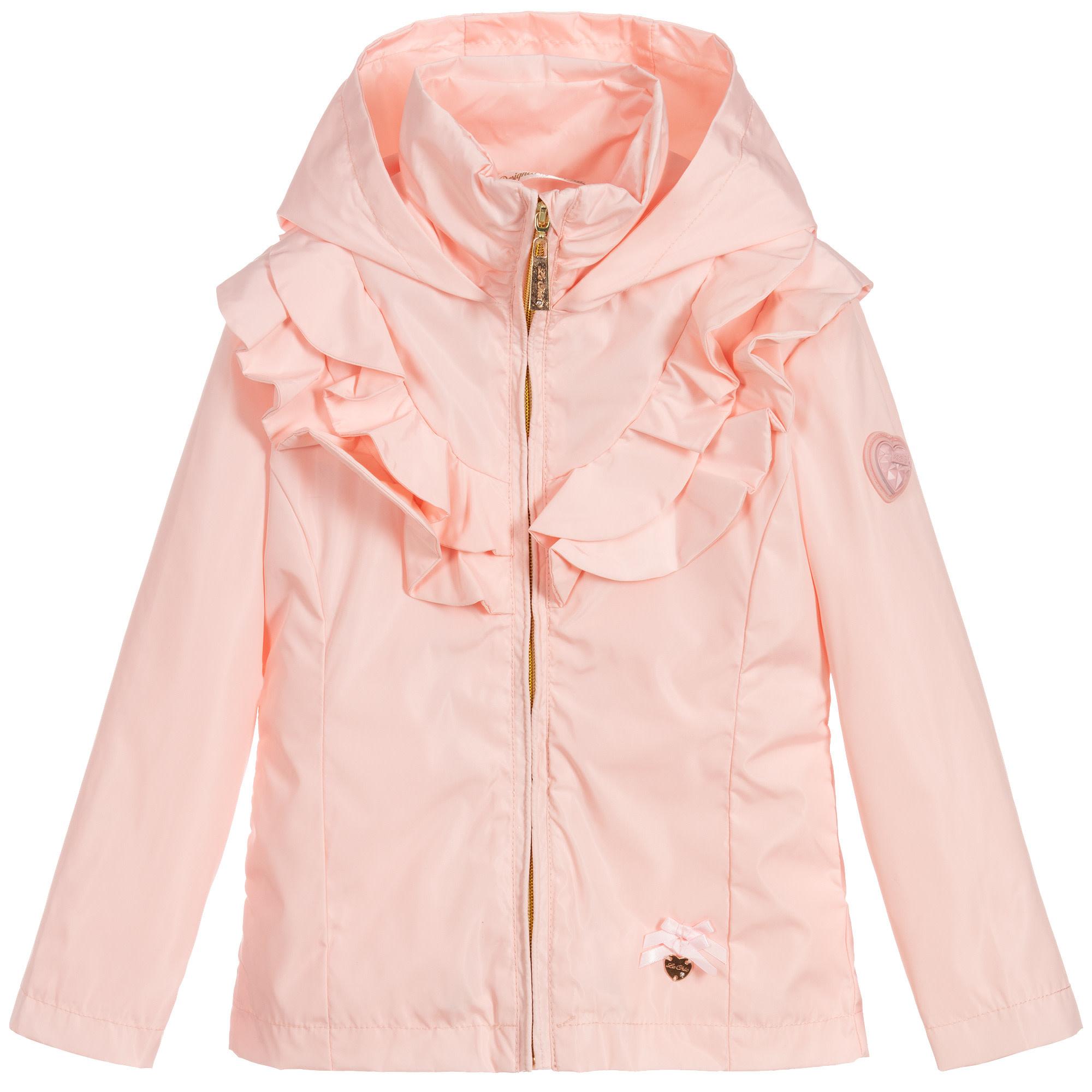 Lechic LeChic Pink Short Ruffle Plain Coat 5205