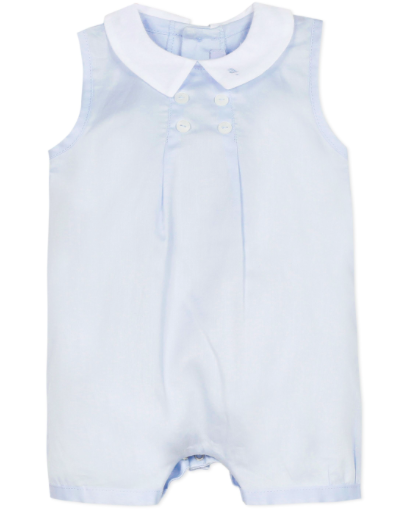 Absorba Absorba Blue Romper with Button Detail