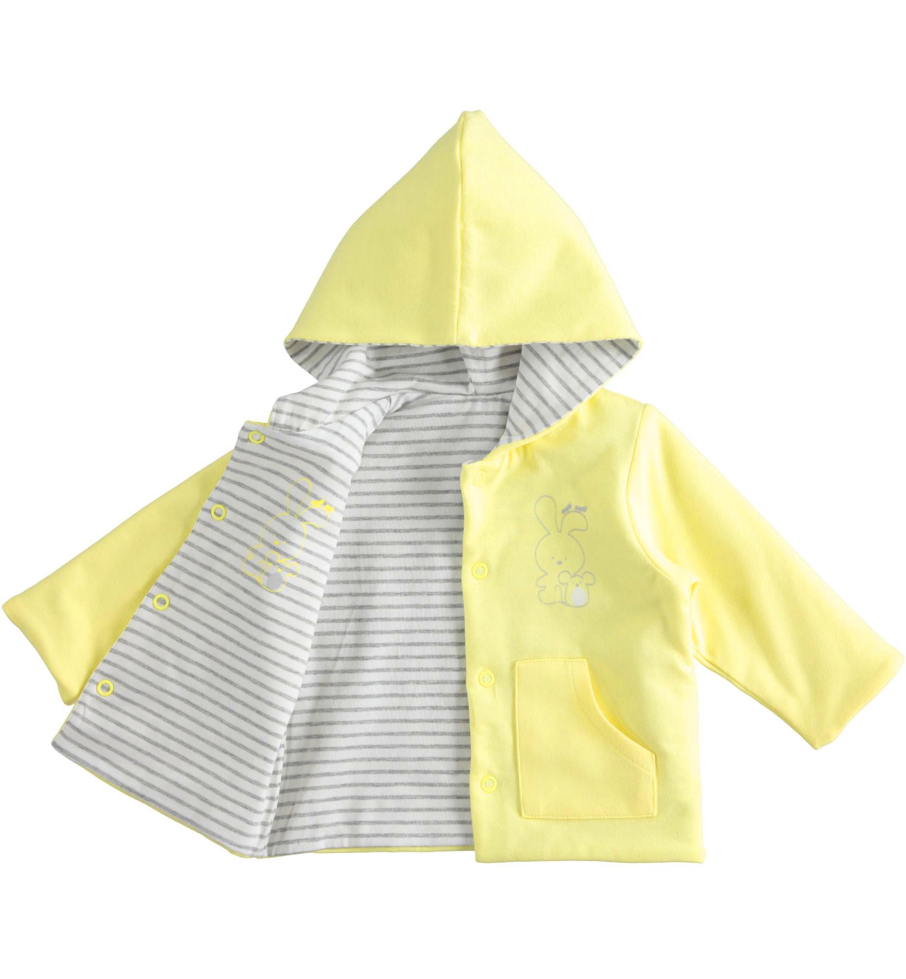 Ido Ido Soft Lemon Knit Jacket With Bunny & Mouse