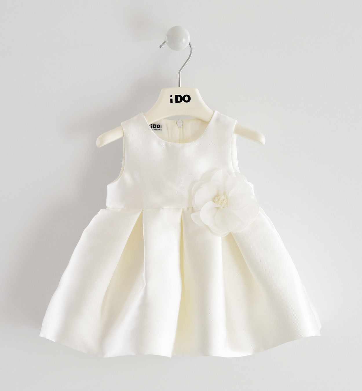 Ido Ido J132 Ivory Dress With Flower detail