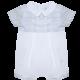 Patachou Patachou Baby 097 White & Blue Checked Romper with White Collar