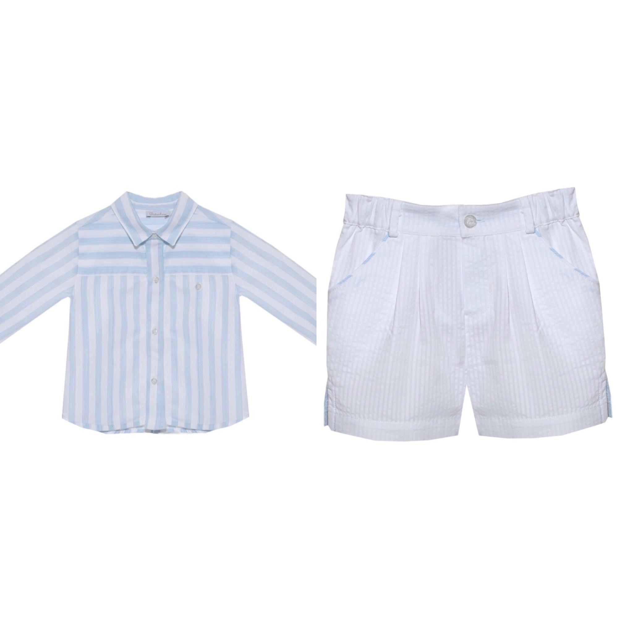 Patachou Patachou Baby 302/311 Stripe Shirt & Short Set