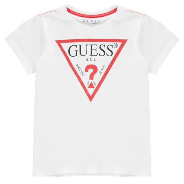Guess Guess Boys White T-shirt with Red Guess Logo