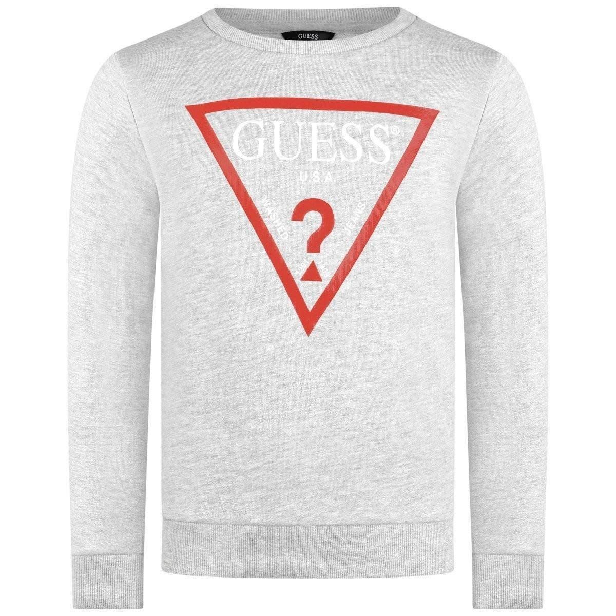 Guess Guess Grey Knit Logo Sweatshirt