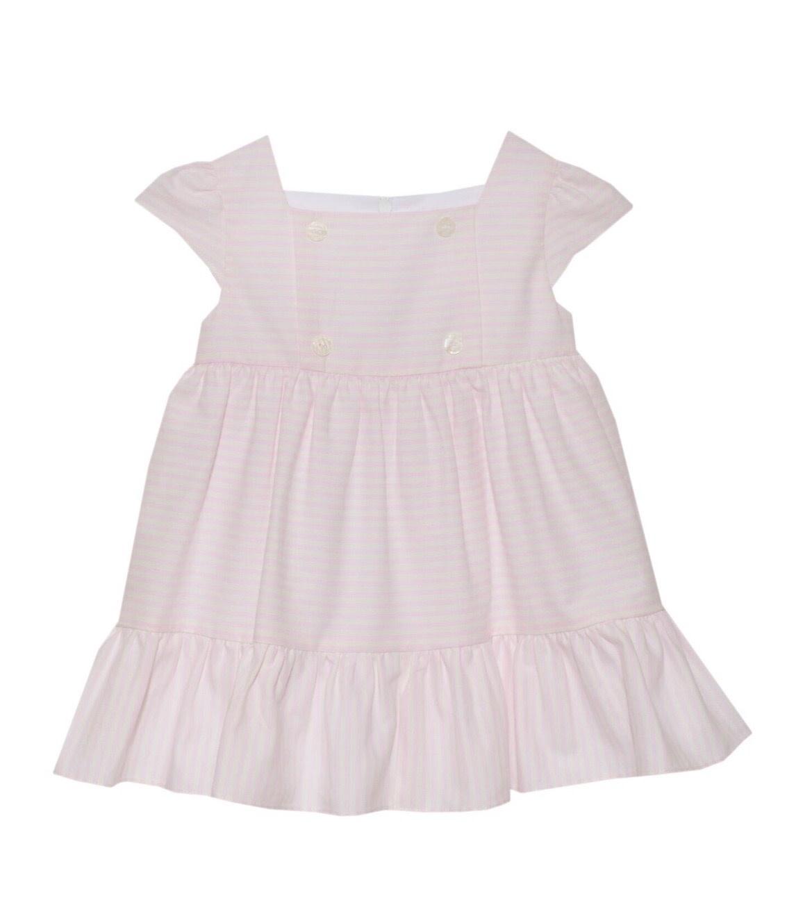 Patachou Patachou Baby 211 Pink & White Stripe Dress
