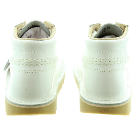 Kickers Kickers White Lace Up Boots With Side Zip