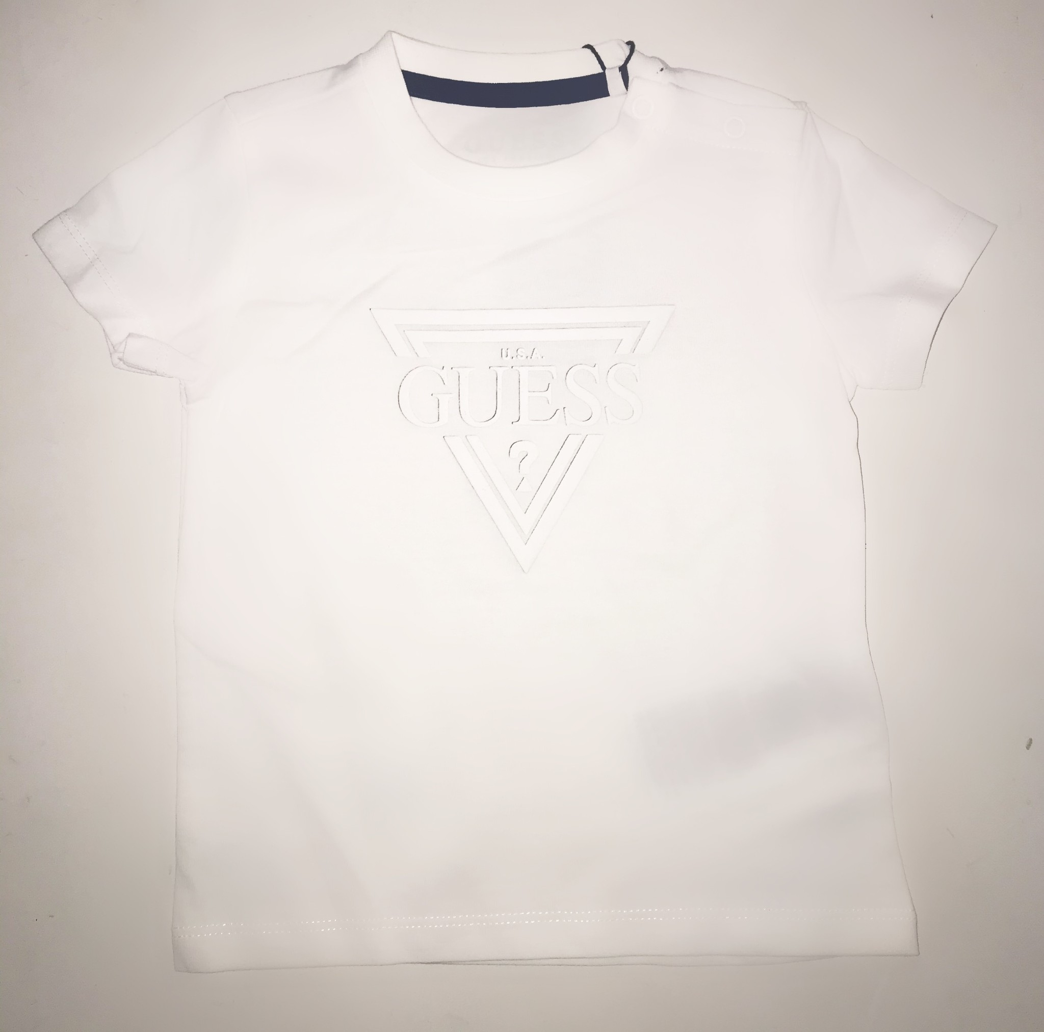 Guess Guess Boys White Logo T-Shirt