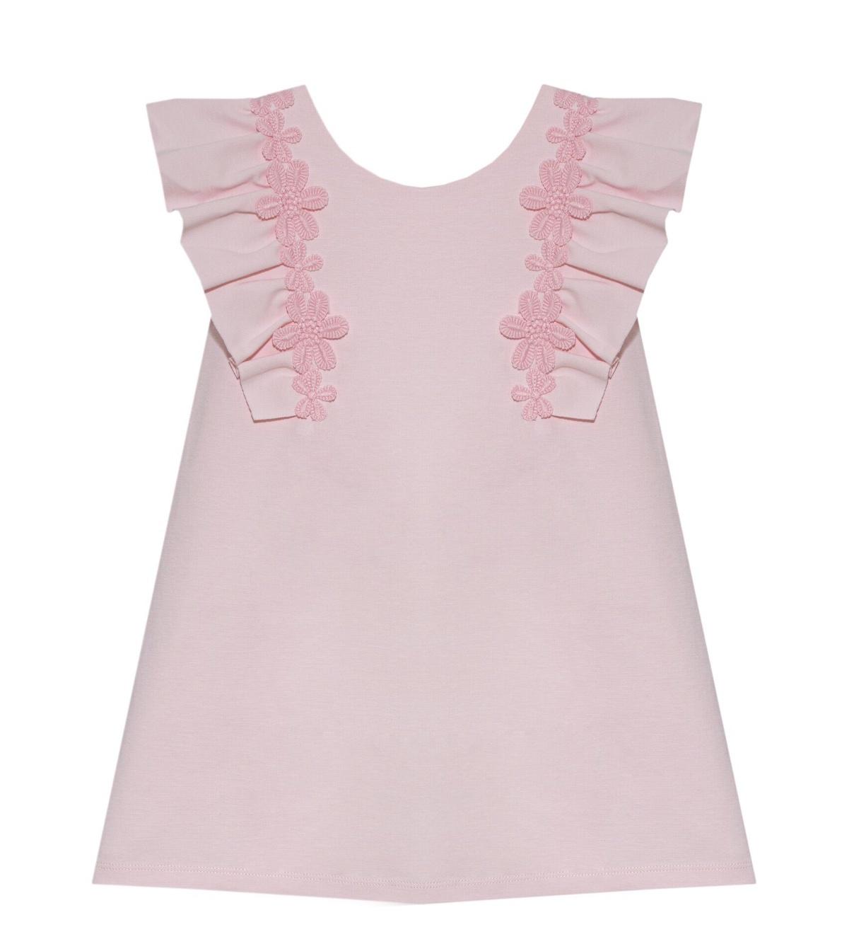 Patachou Patachou Girls 410 Pale Pink Flower Motif Dress