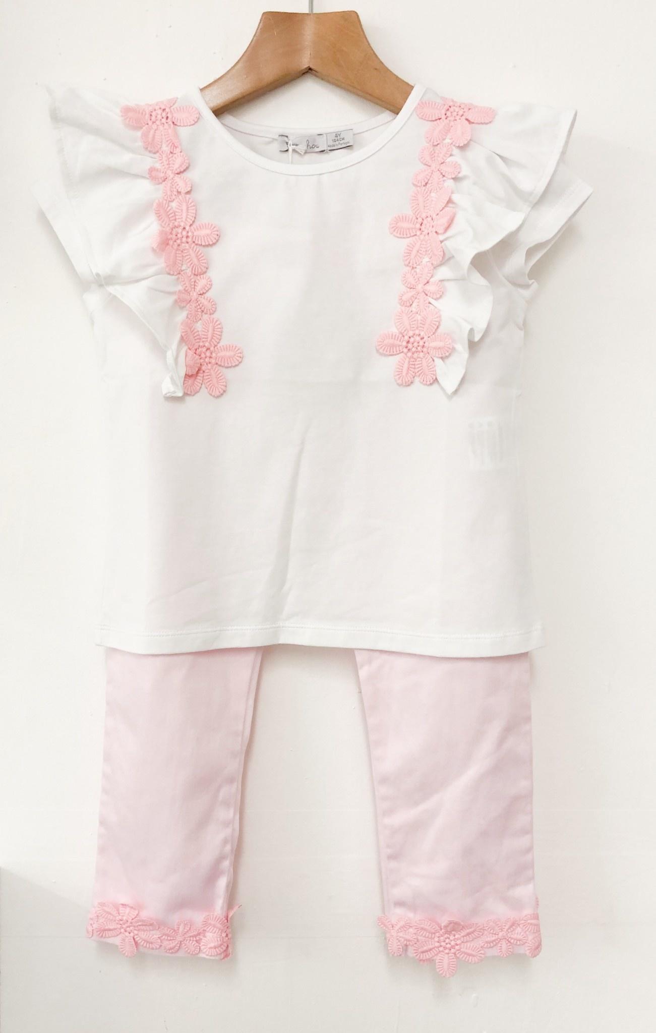 Patachou Patachou Girls 401/406 T-shirt & Trousers with Flower Detail