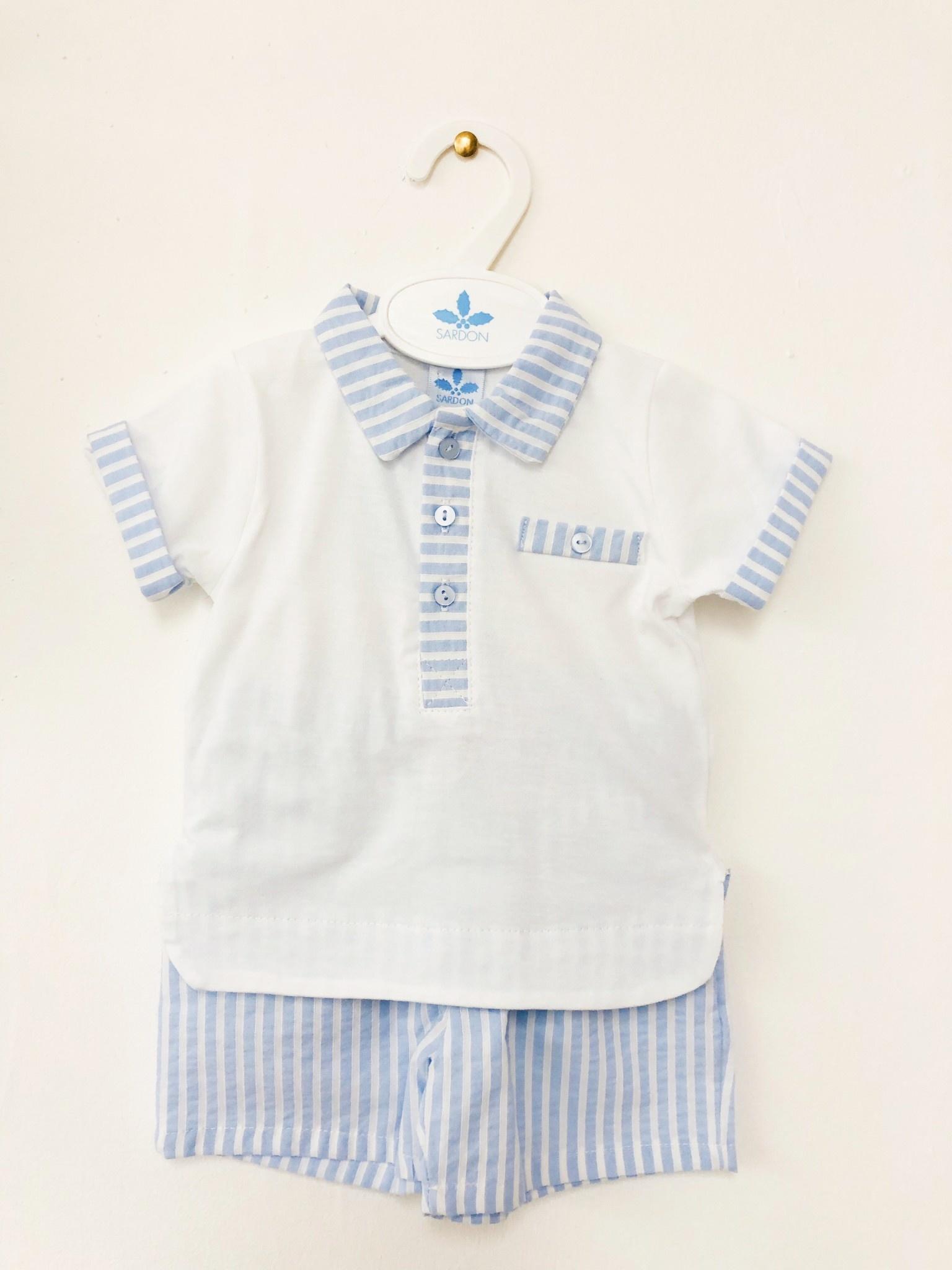 Sardon Sardon 20CO-510 Blue/White Stripe Short Set