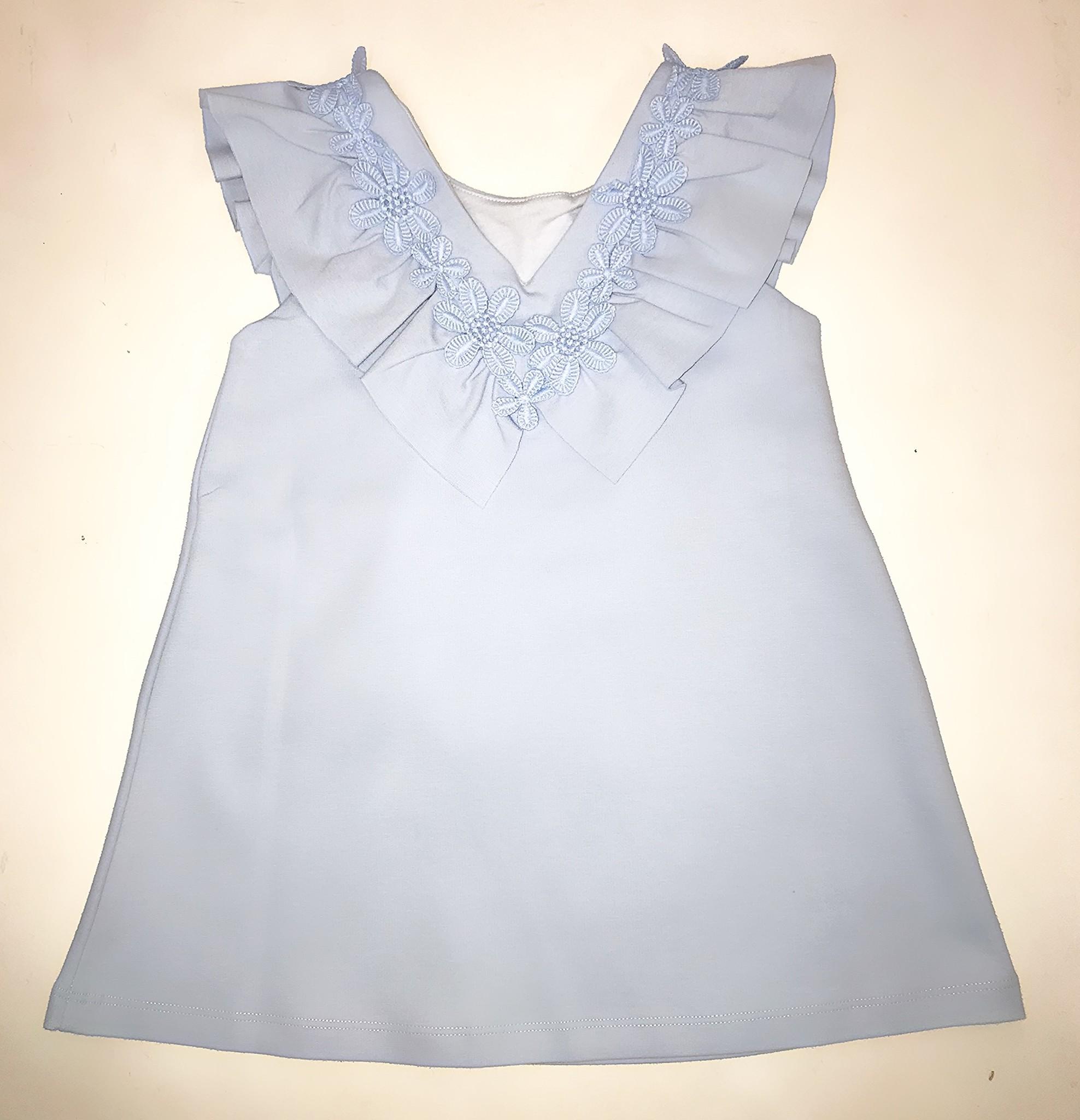 Patachou Patachou Girls 410 Pale Blue Flower Motif Dress