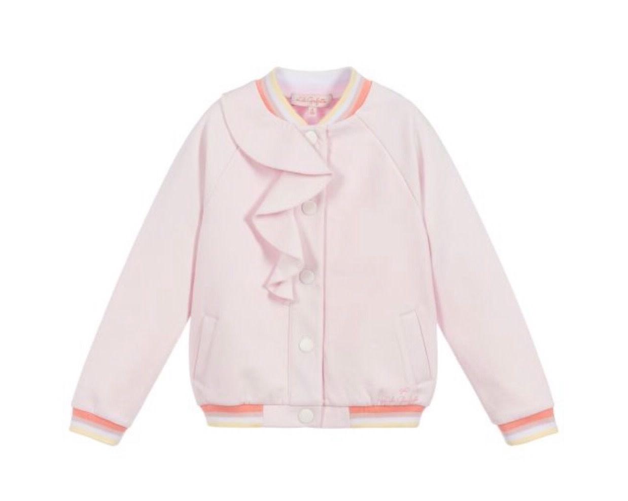 Lili Gaufrette Lili Gaufrette 40002 Pink Jacket with Ruffle