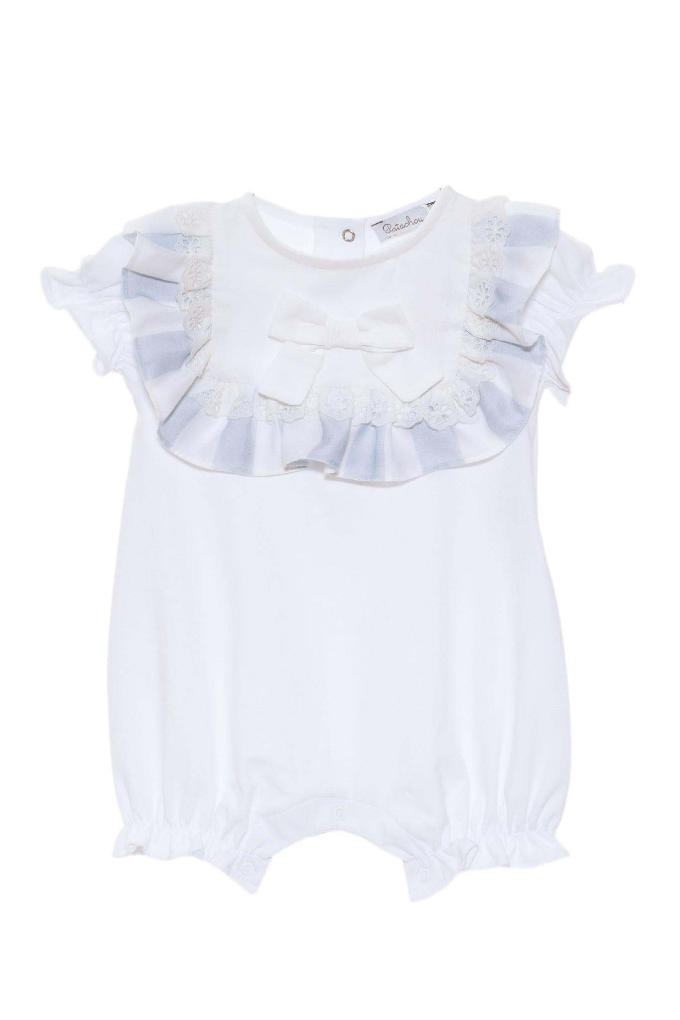 Patachou Patachou Baby 080 Blue / White Stripe Romper