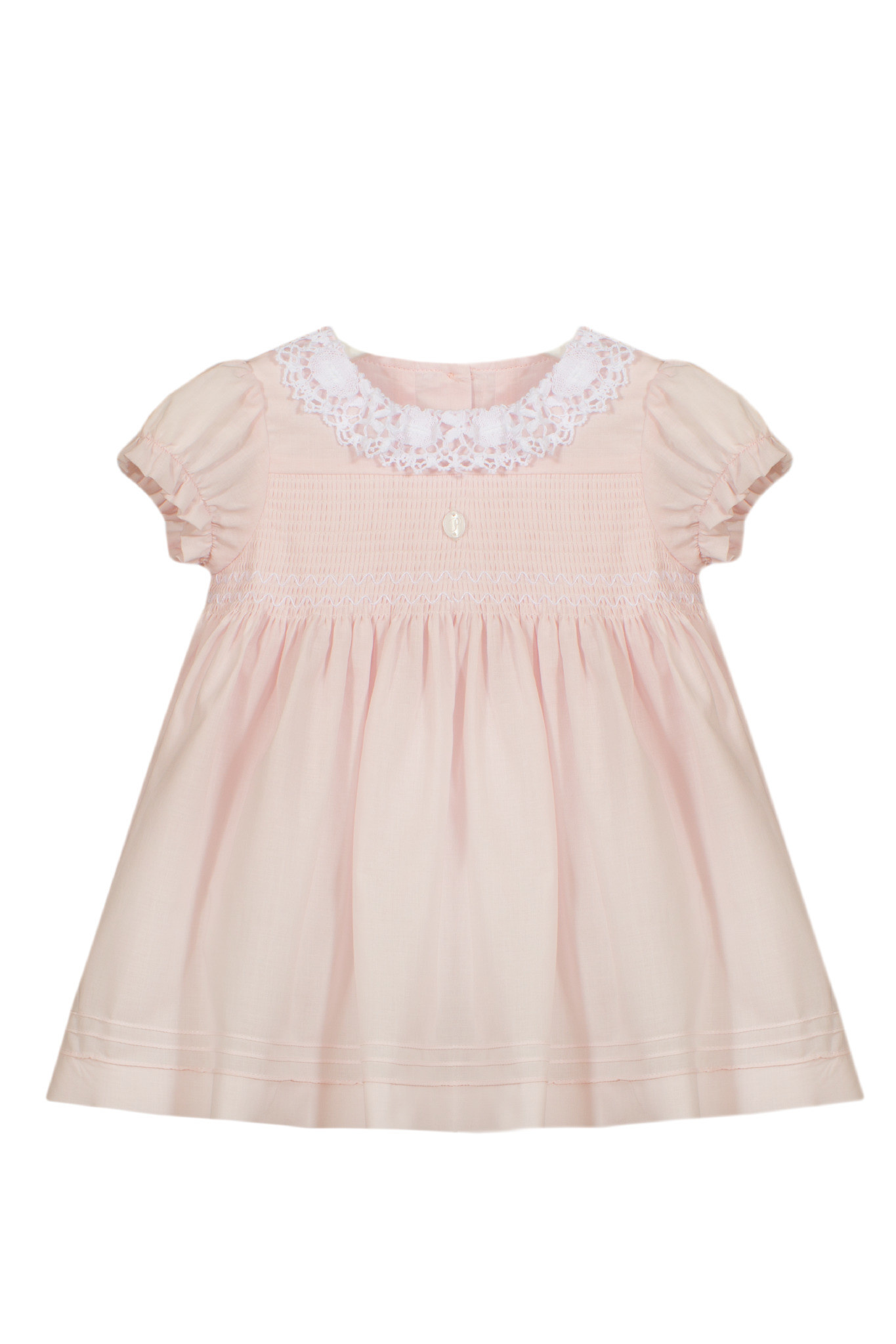 Patachou Patachou Baby 043 Smocked Pink Dress