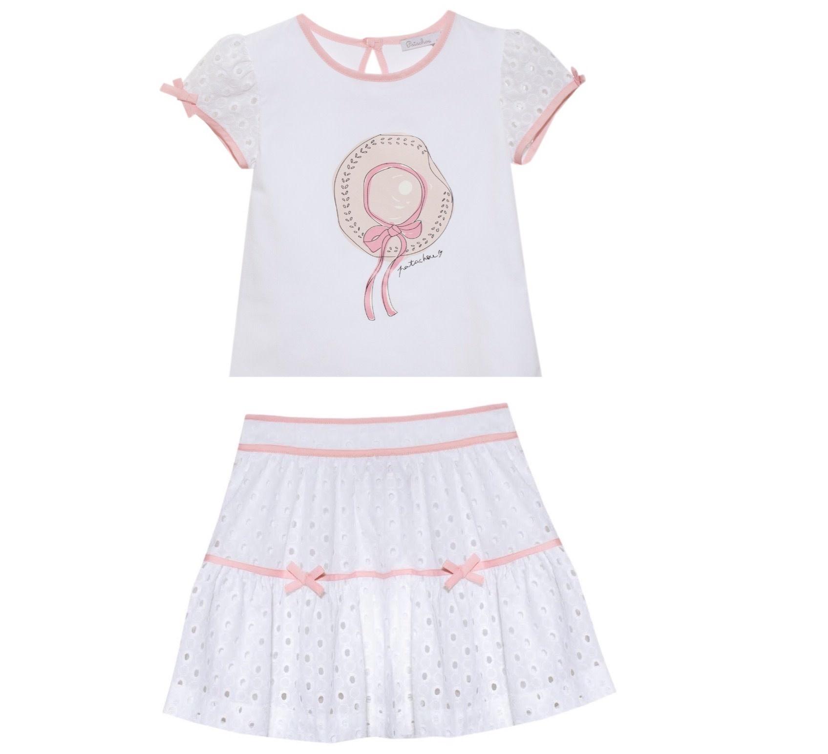 Patachou Patachou 402/407 Hat T-shirt and Skirt Set