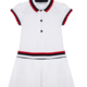 Patachou Patachou 450 Tennis White Tennis Dress ,Navy/Red Trim