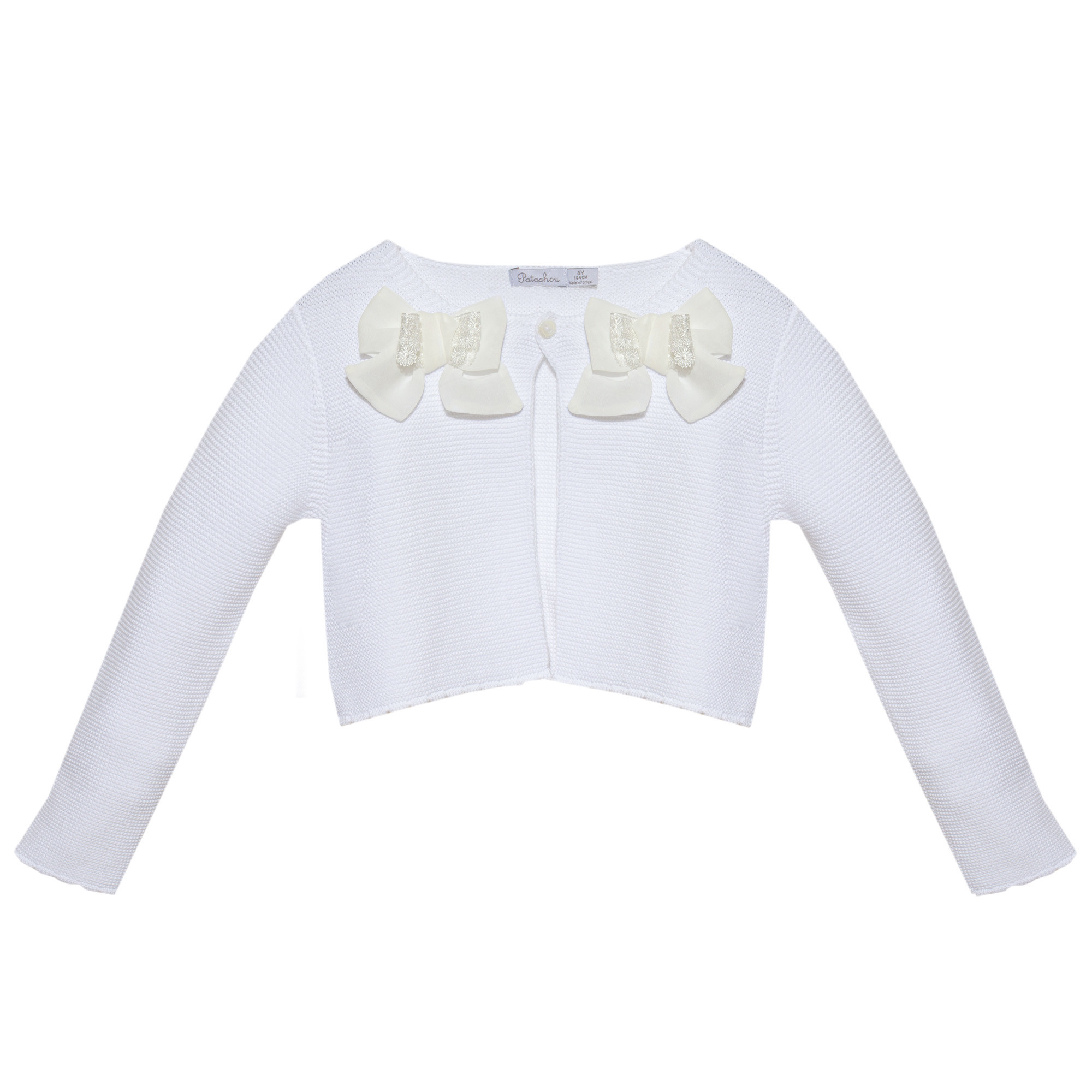 Patachou Patachou Girls 201 White Cardy