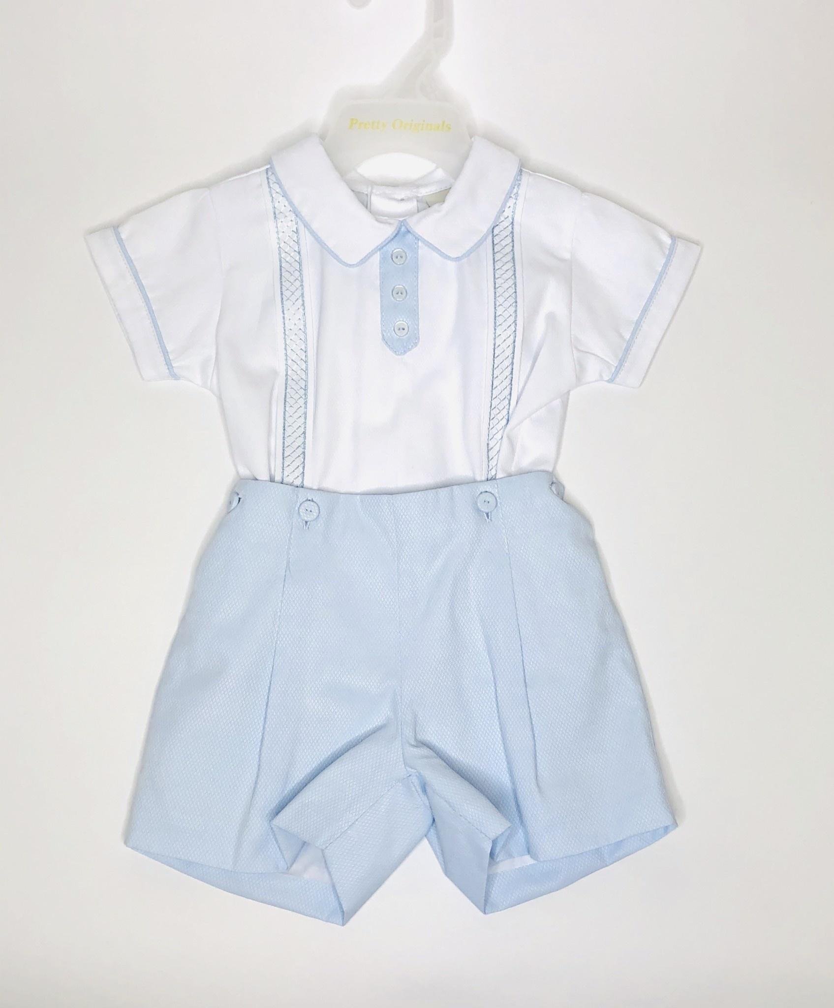 Pretty Originals Pretty Originals DL08063E Boys Blue/White short & Top