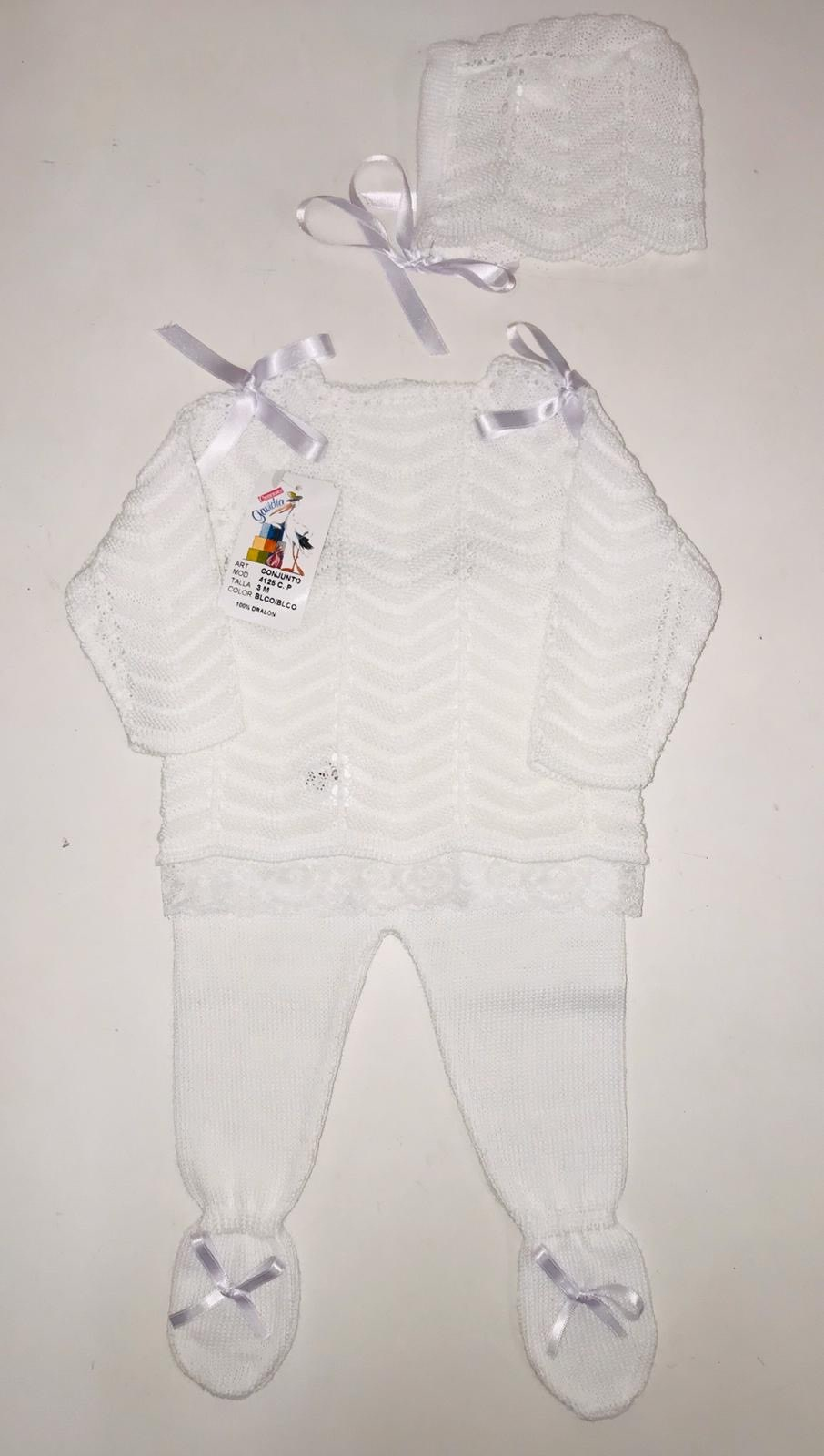 CG CG Girls White Knitted 3 Piece Set