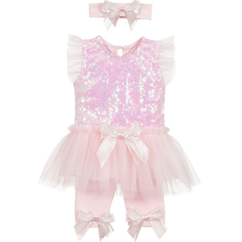 Caramelo Carmelo Pink Sequin& Tulle 3 Piece Set