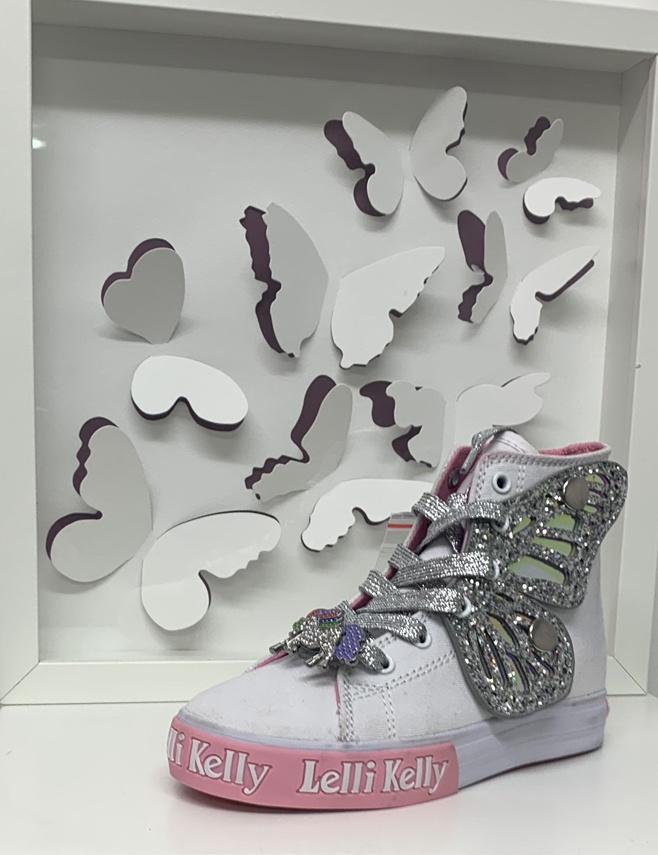 Lelli Kelly Lelli Kelly Unicorn Wing Hi Tops - AH01 Silver
