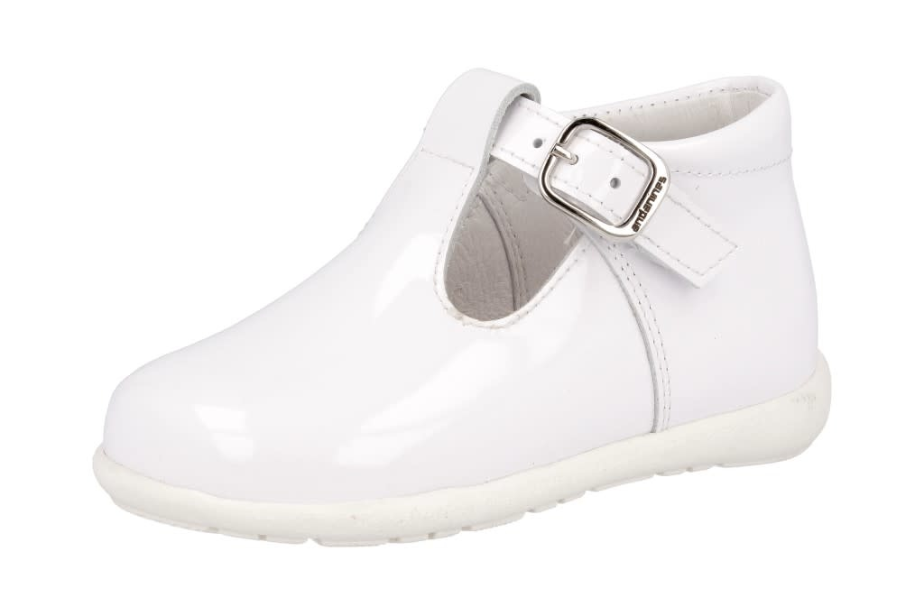 Andanines Andanines  191849 white sole boys patent shoes