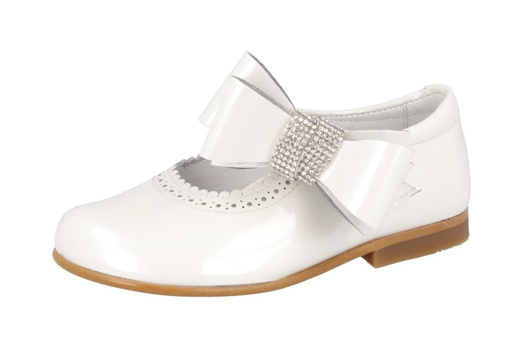 Andanines Andanines 201868 White Patent With Crystal Bow
