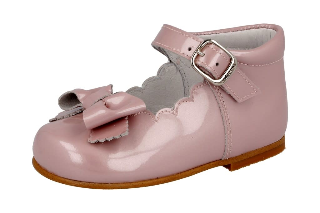 Andanines Andanines 201827 Pink Patent With Strap And Bow