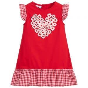 Ido Ido J744 Red Heart Flower Dress
