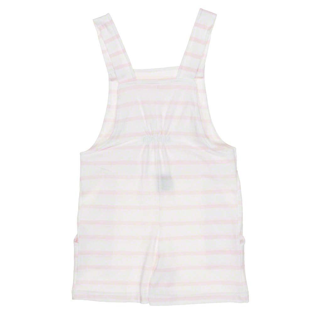 Babidu Babidu 30209 White/Pink Stripe Dungaree