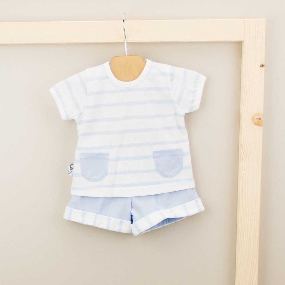 Babidu Babidu 43209 2 Piece  Blue Stripe Set