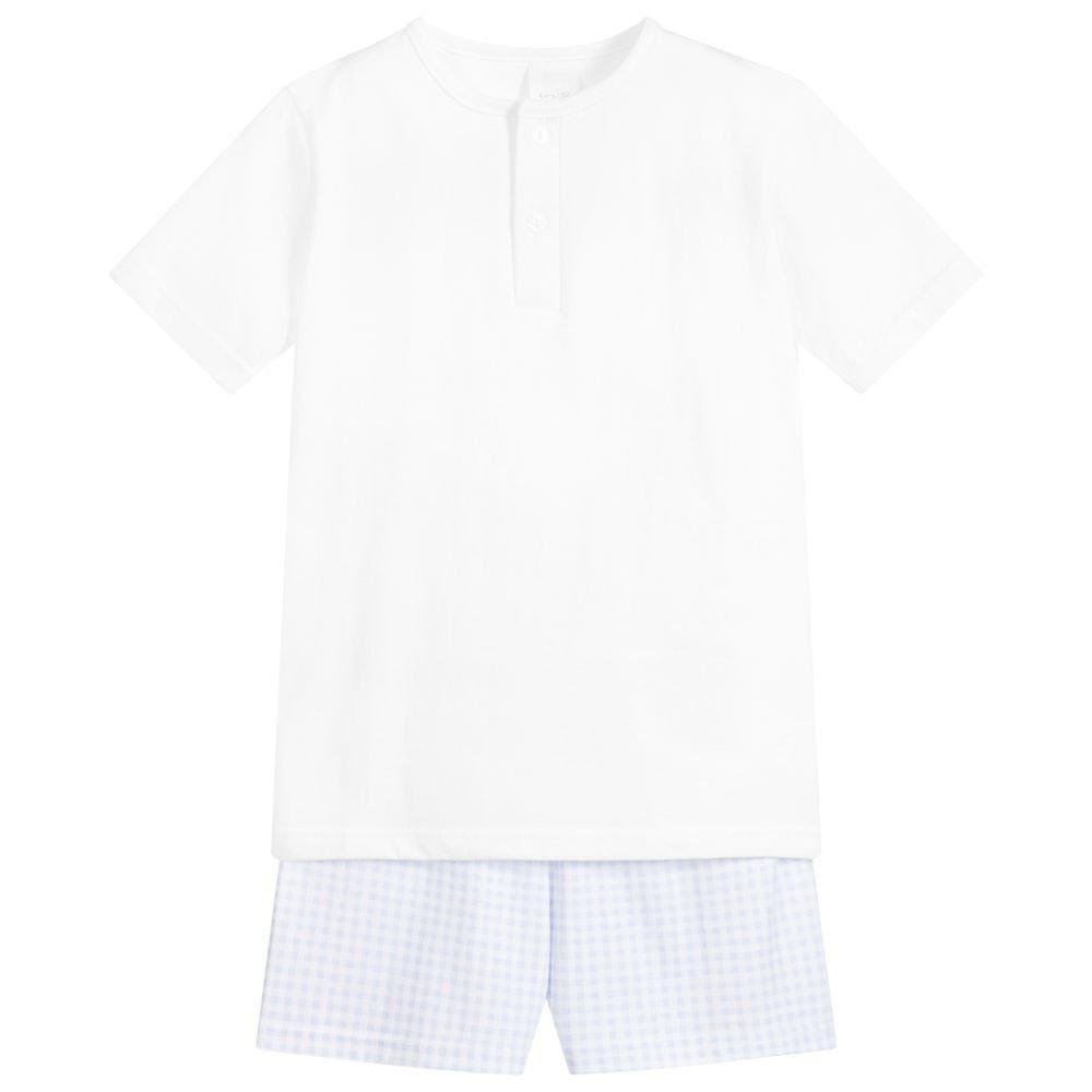 Babidu Babidu 72230 Boys White/ Blue  Pyjamas