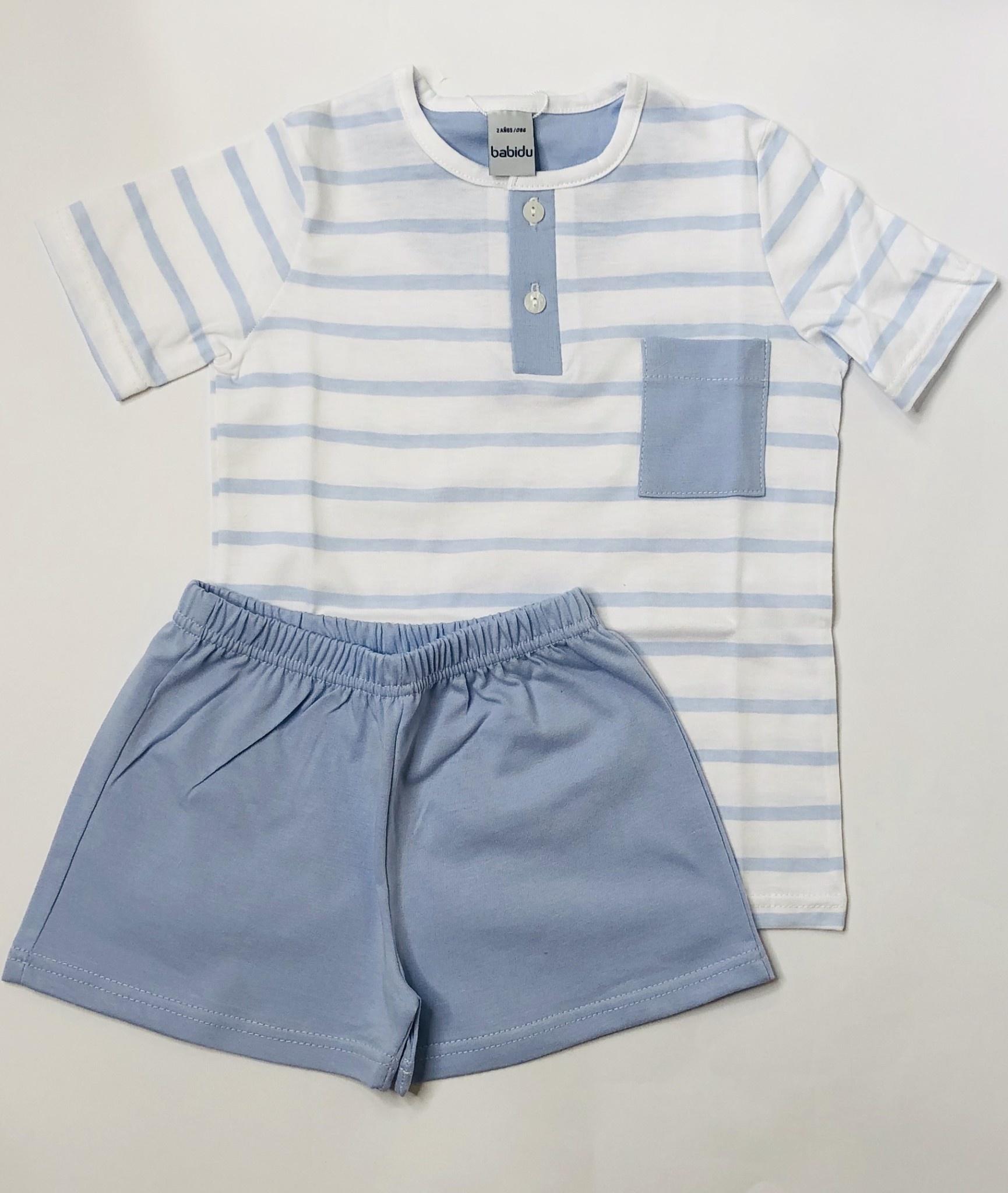 Babidu Babidu 72209 Boys Blue Stripe Pyjama Set