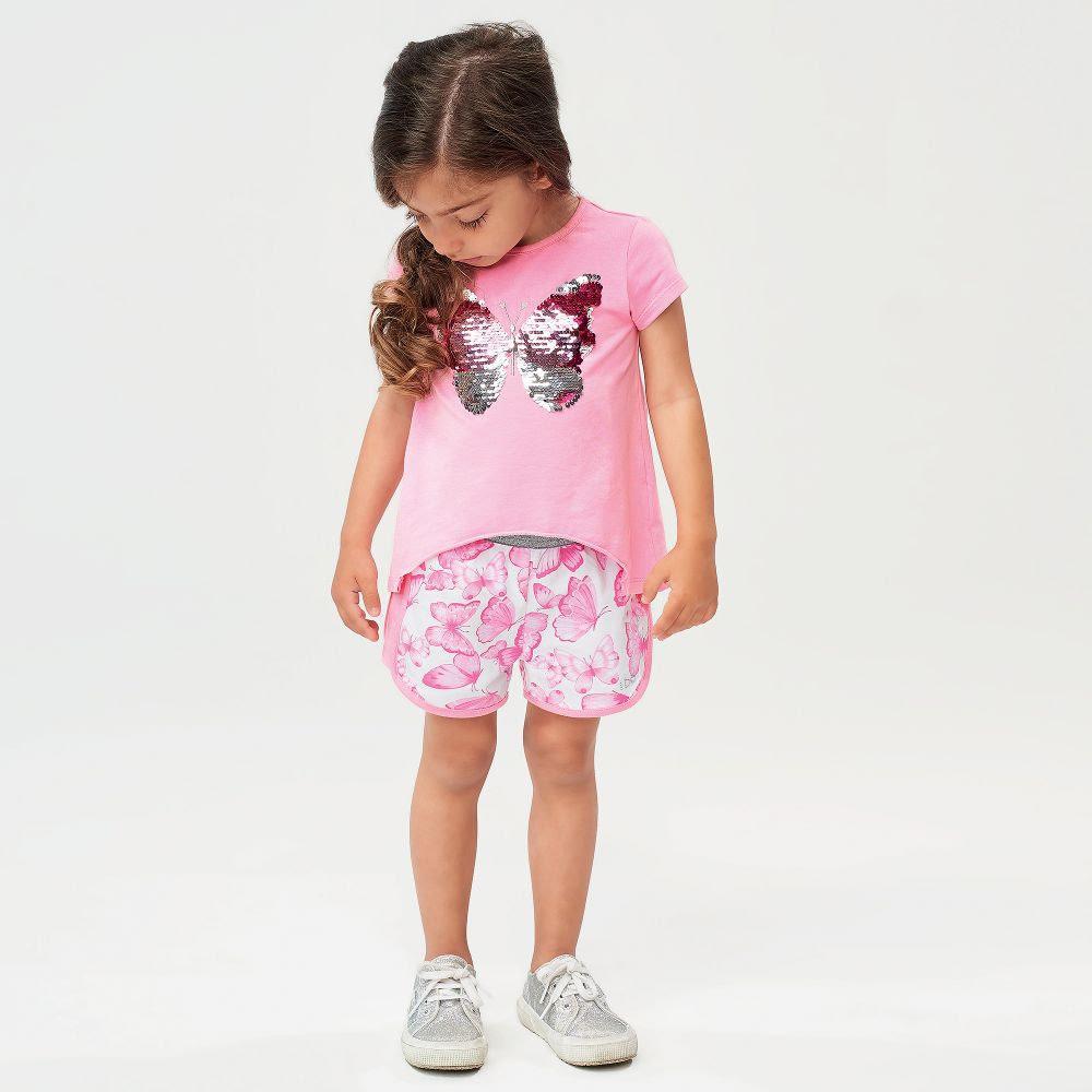 Ido Ido J762 Butterfly Top & Shorts Set