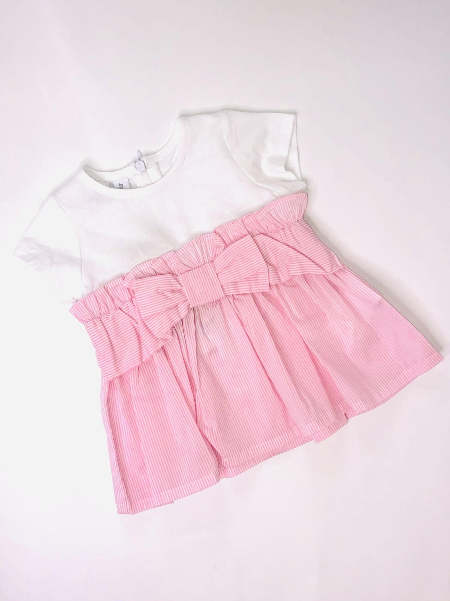 Ido Ido J640 Pink Stripe Baby Dress