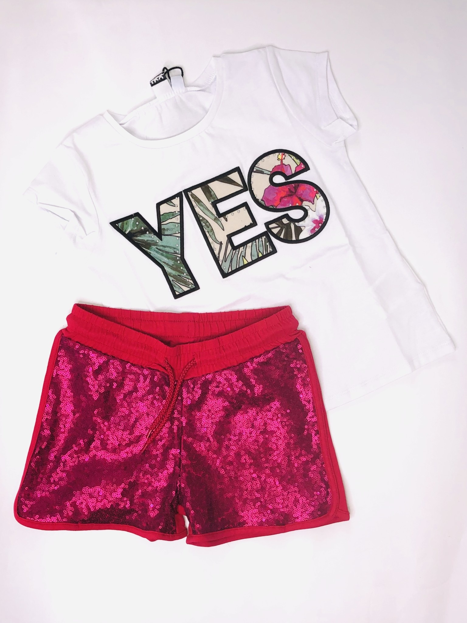 Ido Ido J866 YES T-shirt & Short Set