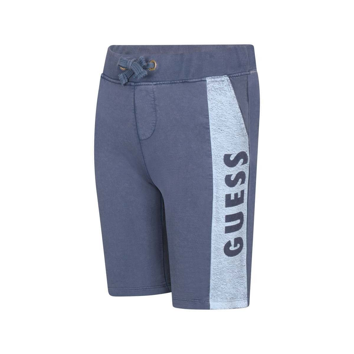 Guess Guess Boys Blue Shorts With Side Logo