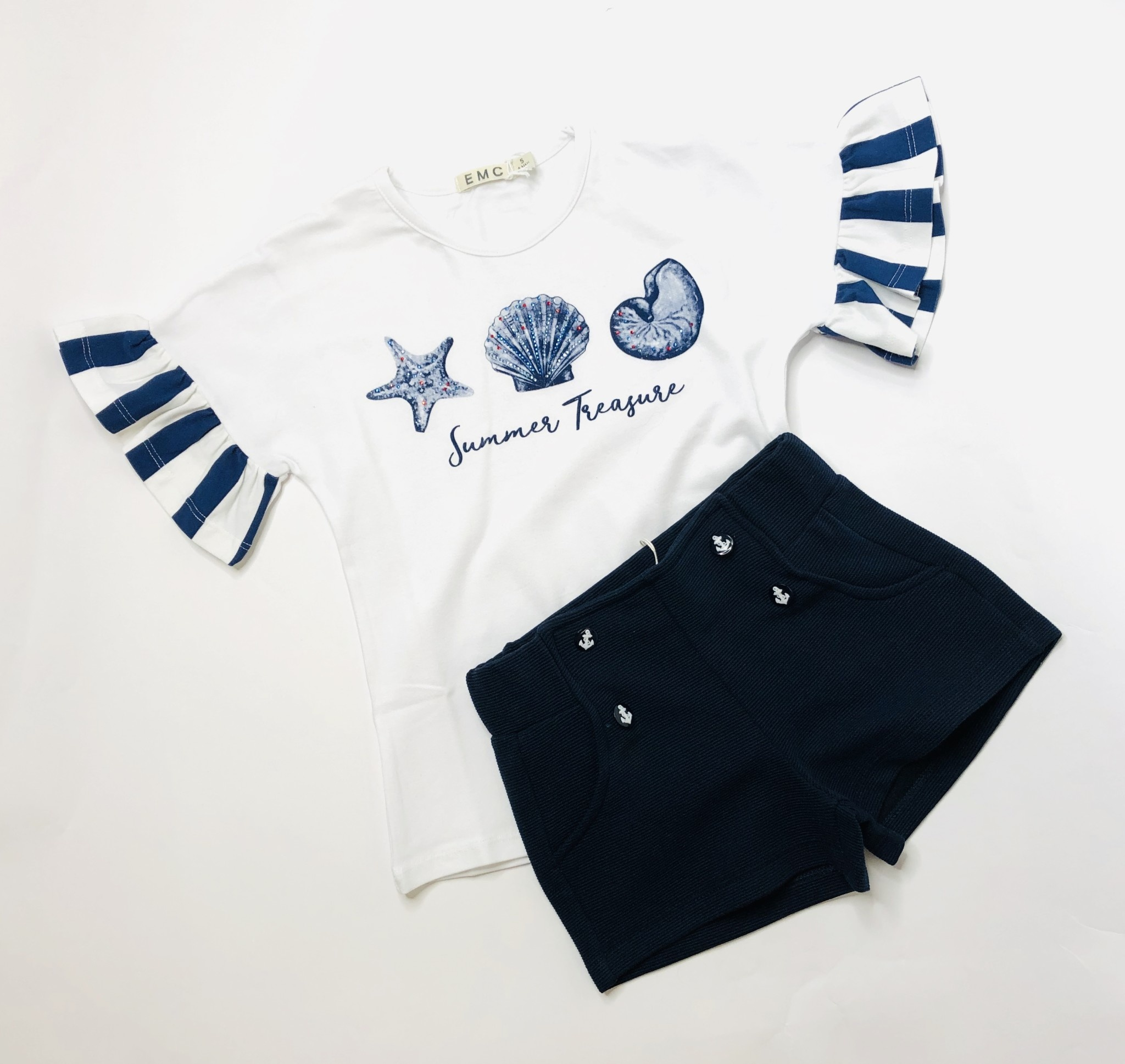 EMC EMC Shell T-shirt & Navy Short Set