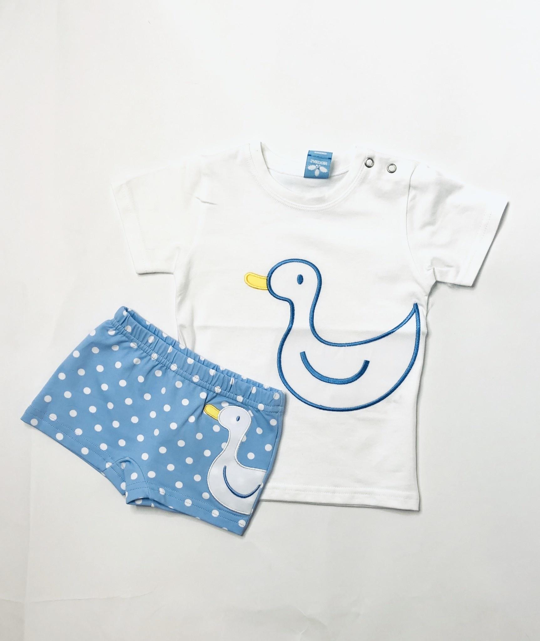 Sardon Duck Top and Swim Shorts Set