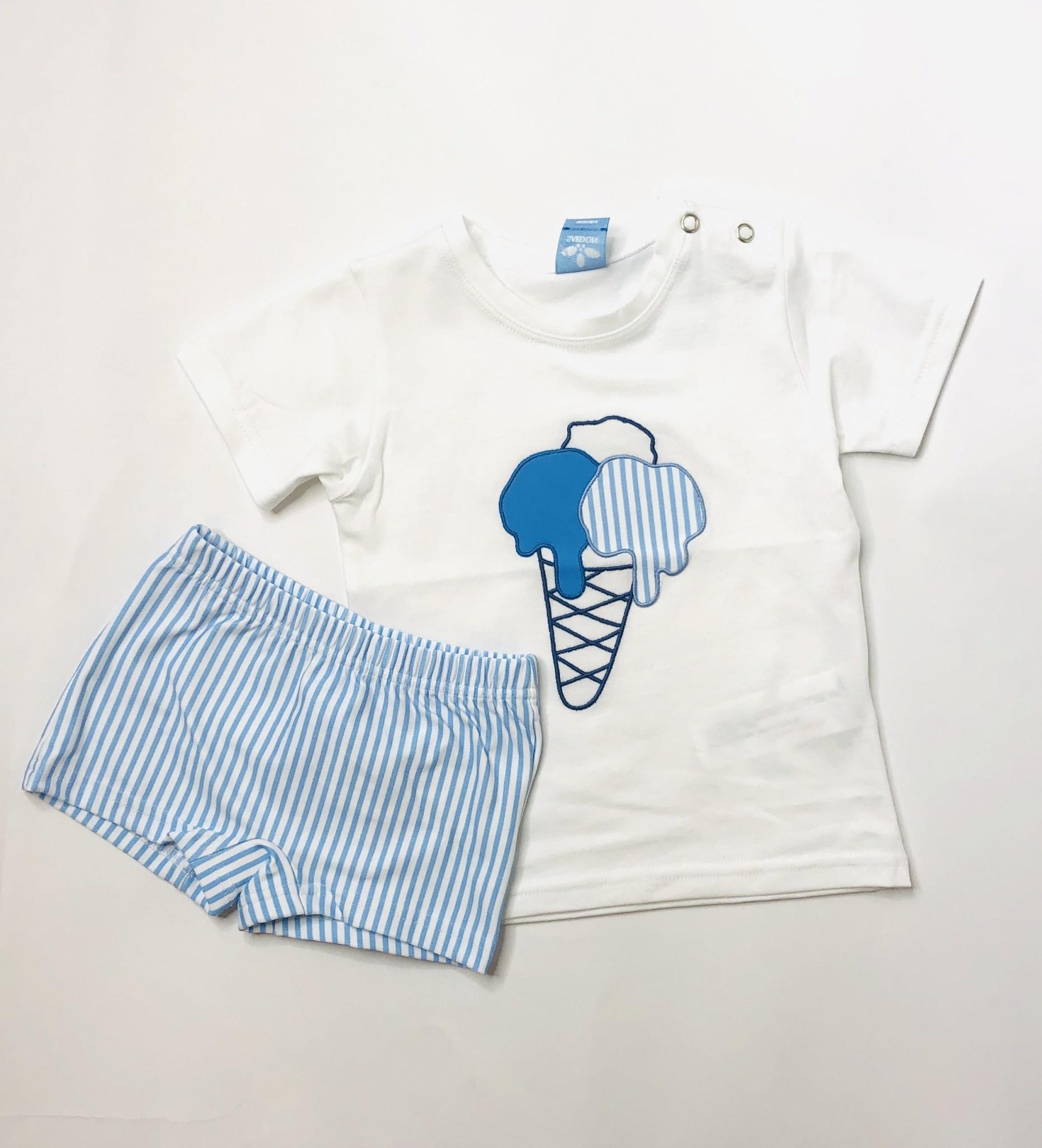 Sardon Sardon Boys Ice-cream top & Swim Shorts Set
